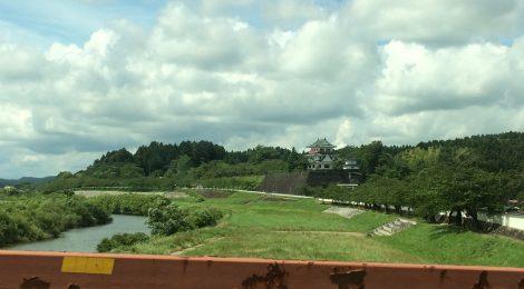橋から涌谷城