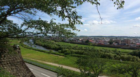 涌谷城から江合川